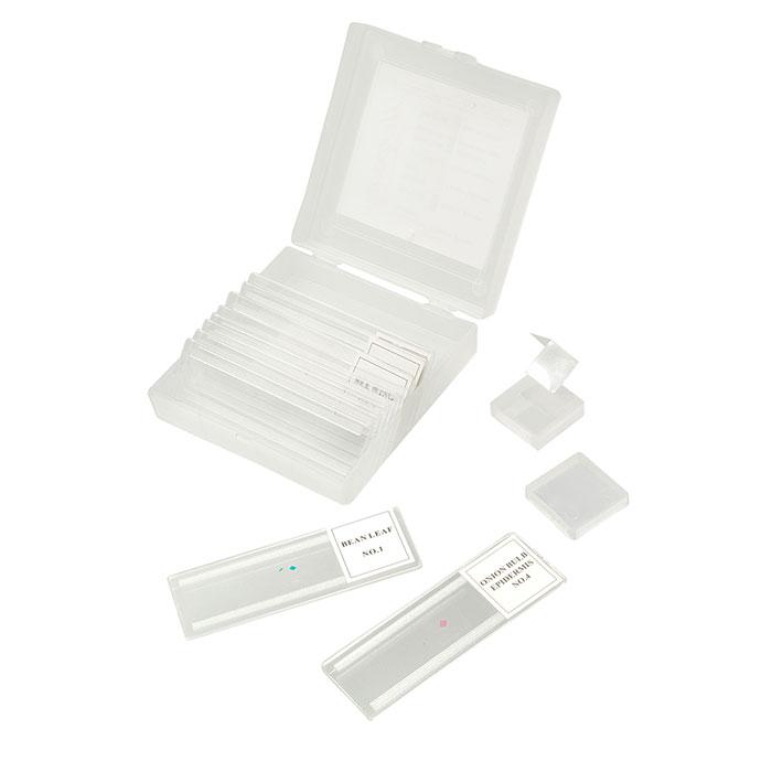 Микромед Микропрепараты 5 образцов + 5 предметных стекол (пластик)